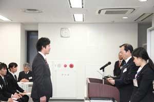 授賞式の様子「学生ビジネスプランコンテスト」