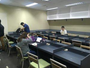 自習室の様子